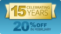 Celebrating 15 years of EasyXLS Excel library – 20% OFF in February for all products! #Excel #CSharp #VBNET #Java #PHP #CPlusPlus