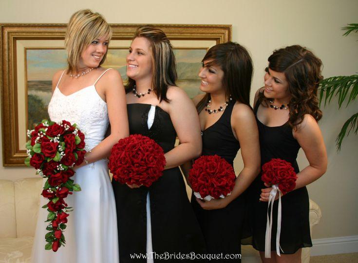 Red Rose Bouquet Wedding | Bouquet Toss | Cheap Bridesmaid Bouquets | Silk Weddi… – Rebecca Kennedy