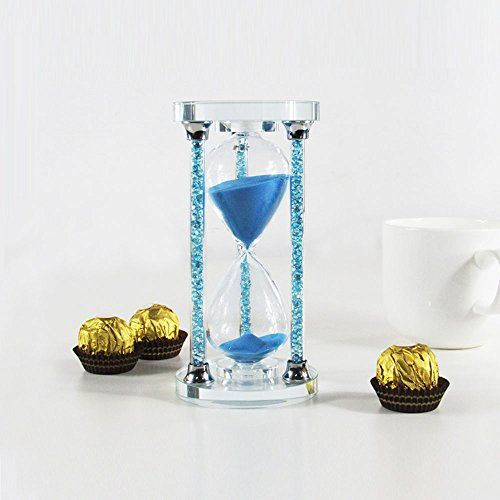 HIJOY 45 Minutes Hourglass Timer Sandglass Sparkly Crystal Filled Pillars Kitchen Timer for Bookshelf Coffee Table Decor Christmas Gift Souvenir Present Packing Blue 45 Min -- Find out more about the great product at the image link. (Note:Amazon affiliate link)