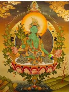 Green Tara of Wealth full