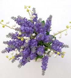 Artificial Lily of the Valley and Silk Lavender Bridesmaids Bouquet