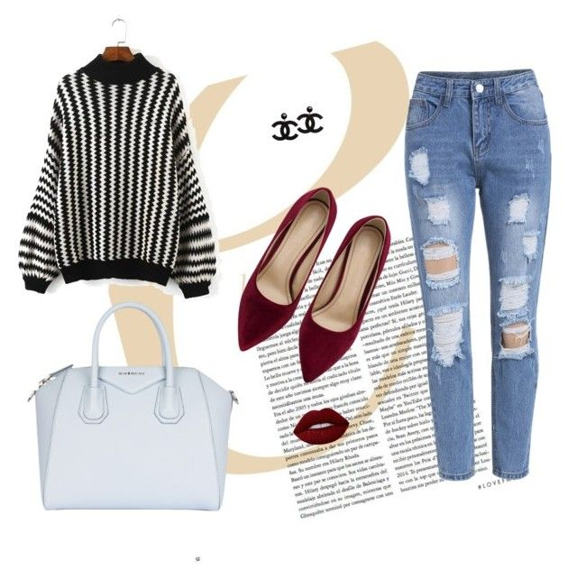"""""""Red, Black n White"""" by miah-belmonte on Polyvore featuring Givenchy and Lime Crime"""
