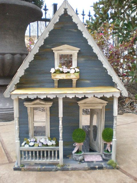 New Orleans Shabby custom dollhouse