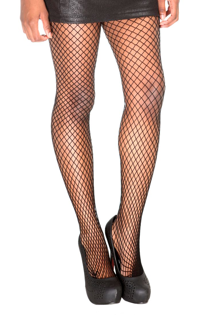 Black medium fishnet tights hot topic accessories for Fish net tights