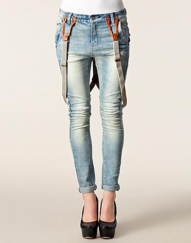 Zoe Damage Jeans - Circle Of Trust - Denim blå - Jeans - Klær - NELLY.COM
