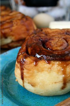"There's a bakery about 20 minutes from my house that makes ""the best"" heavenly cinnamon buns.  They are fluffy and sticky and gooey and delicious.  They're so fresh that whe…"
