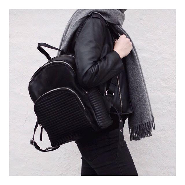 WEEKEND FEEL // The back pack #jadebackpack #leatherbackpack