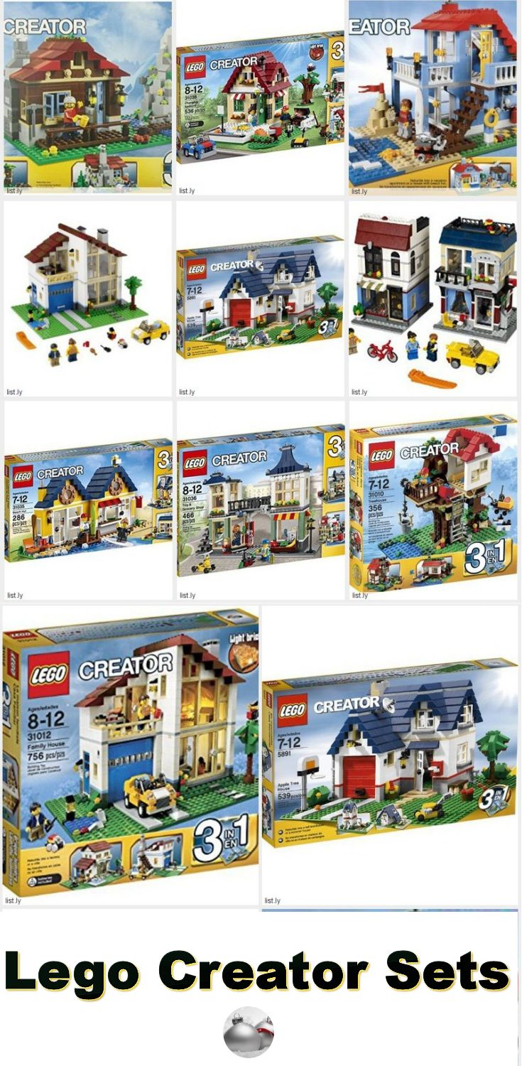 Most of the Lego Creator sets are 3-in-1 which means that you can build three creations right out of the box. Use your mind and hands to create a number of different things from each kit.