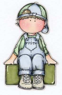 Dibujos. Clipart. Digi stamps - Dolls - Magnolia Boy