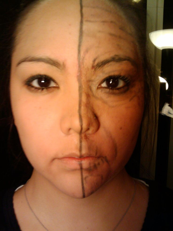 Makeup and Skin with Old Age Makeup with Below instructor Marianne ...