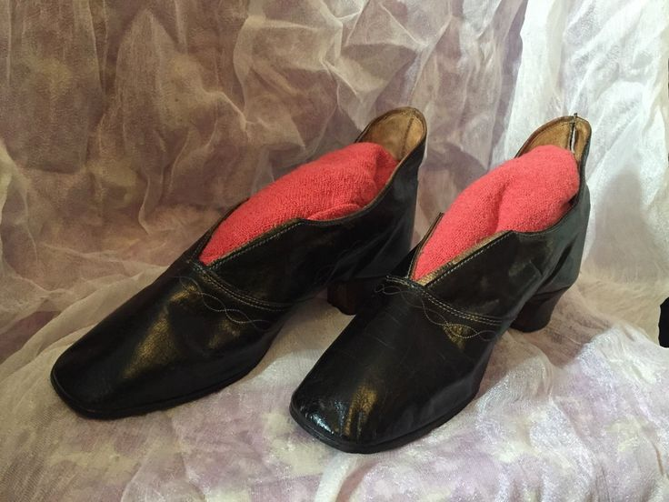 Antique 1850's 1860's Civil War Ladies Shoes Strait Soles See Pics | eBay