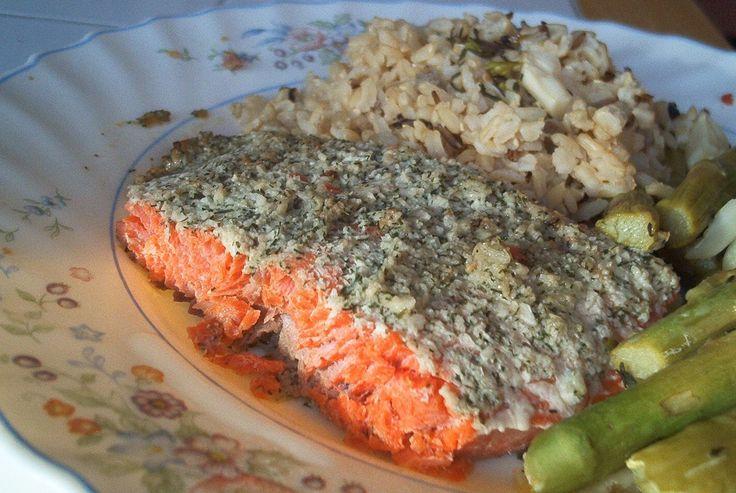 Лосось в духовке с чесноком и укропом @ allrecipes.ru