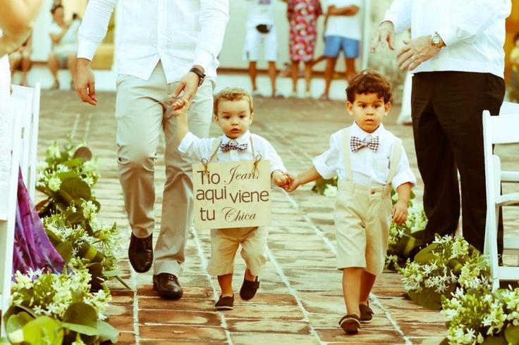 here come the bride, beach wedding