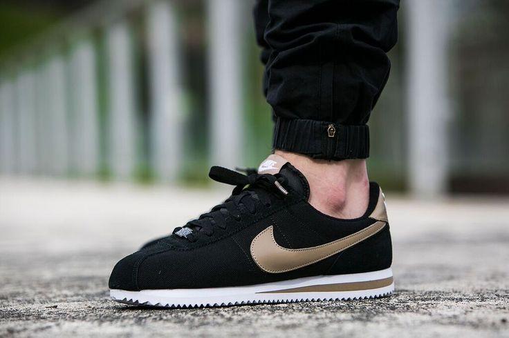 "Nike Cortez Basic Premium QS ""Black/Desert Camo"" (819721-021) - http://goo.gl/jbdQYp"