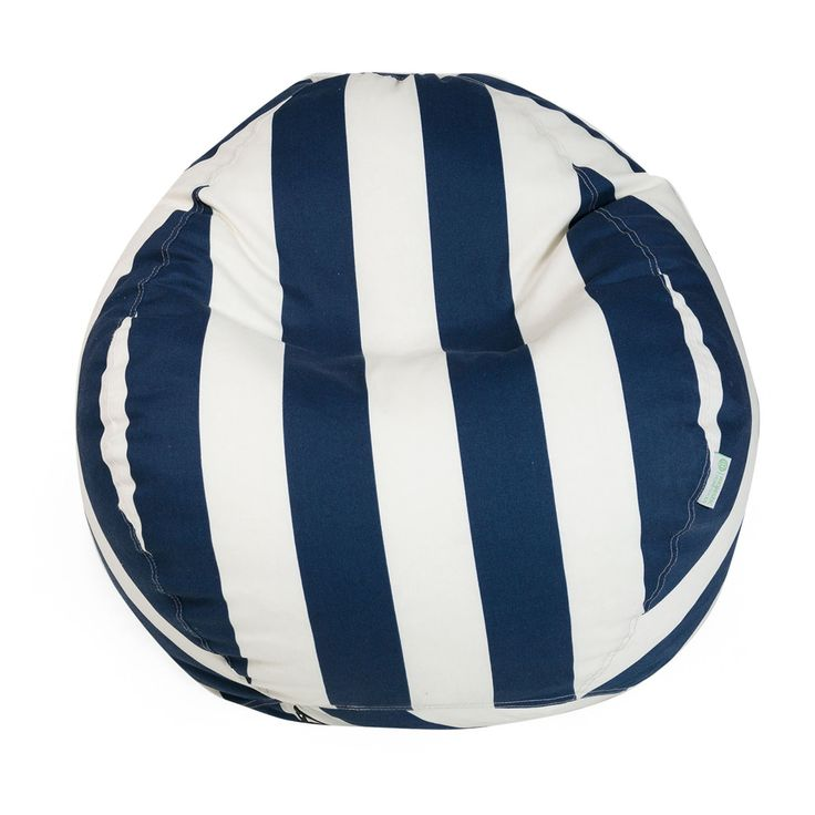 Navy Blue Vertical Stripe Small Classic Bean Bag