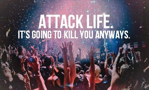 Attack Life: Fiestas Parties, Quote, Attack Life, Well Said, Life Mottos, So True, Music Festivals, All Time Low, True Stories