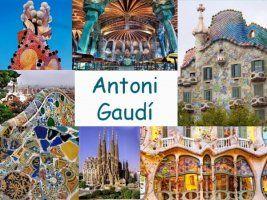 Leuke en informatieve powerpoint over Antoni Gaudi voor 5, deze en nog vele andere kun je downloaden op de website van Juf Milou.