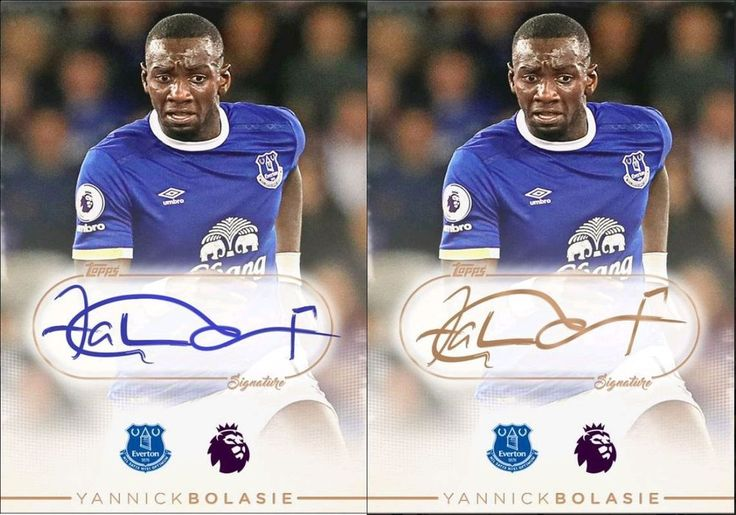 2016 Topps KICK EPL Signature Yannick Bolasie Blue Sig & Bronze 2X Digital Cards