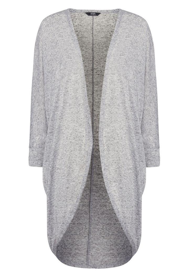 Clothing at Tesco   F&F Long Line Slub Cardigan > knitwear > Knitwear > Women