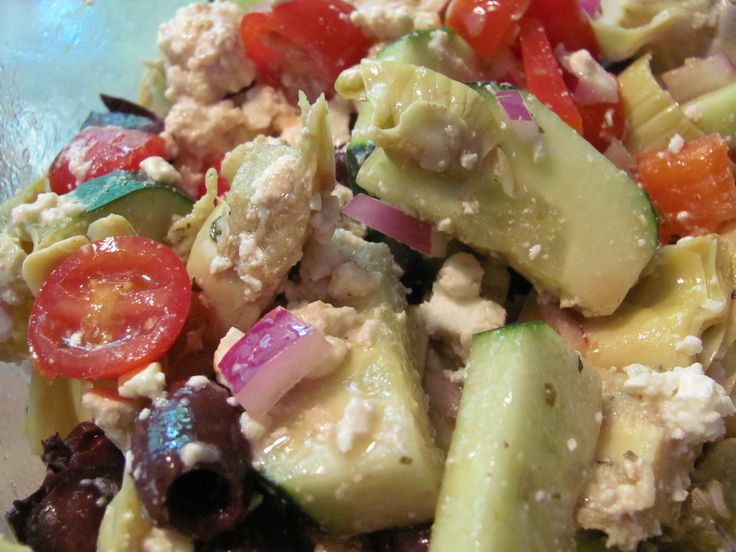 Any BBQ you go to this summer is likely to have pasta salad. There is no better way to ruin a delicious melody of seasoned and marinated vegetables than to add pasta to it… so I used all of t…