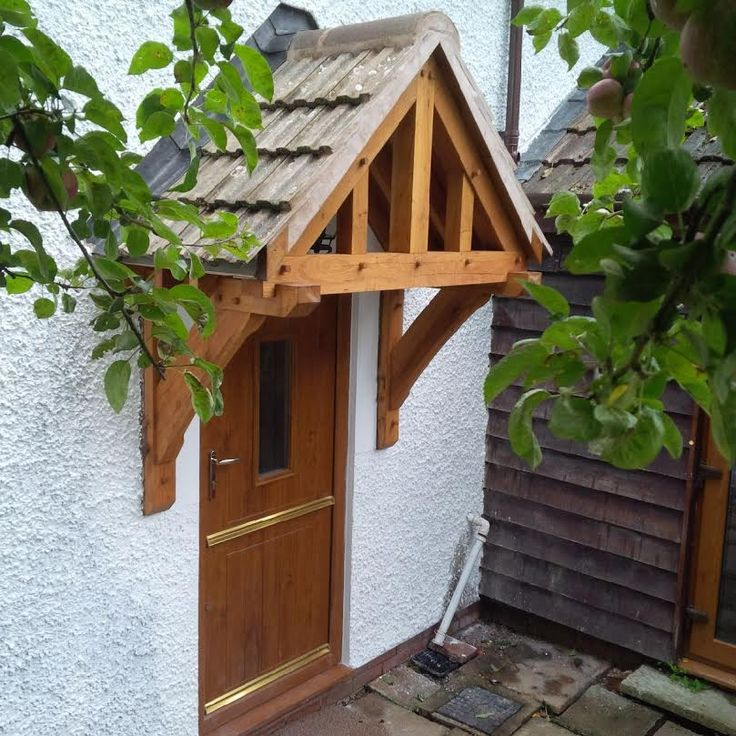 Simple Wooden Door Awning Vintage Construction: Image Result For Door Canopy Kits