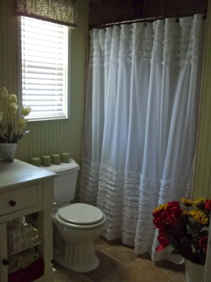 Shabby Chic Bathroom Curtain Ideas : Best images about bathroom ideas on corner