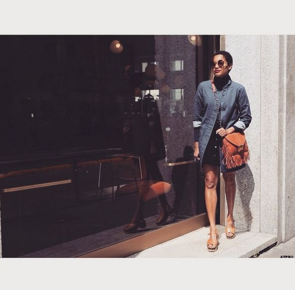 #tamumcpherson with ella mini folkcognac #gianlisa #mfw #streetstyle @all