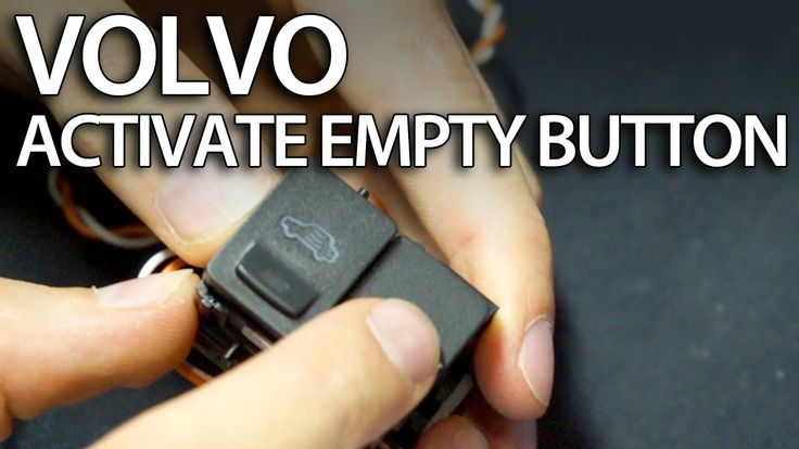 How to activate empty button in #Volvo dome light C30 S40 #V50 V60 #S60 #S80 #V70 #tuning