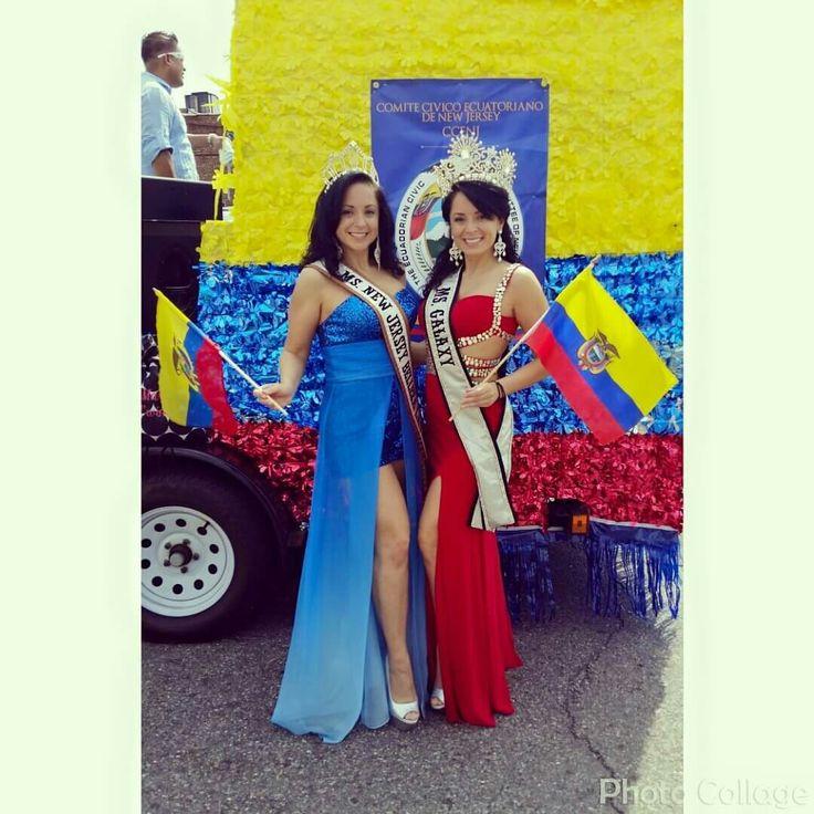 Ms. New Jersey Belleza Latina and Ms. Galaxy Ecuadorian State Parade of New Jersey