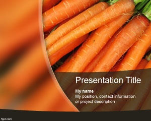 Carrots PowerPoint templates is a free PowerPoint PPT background slide design