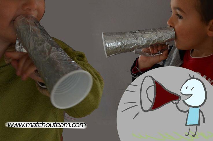 www.matchouteam.com Mégaphone à fabriquer       Attention attention!!   un porte-voix en fabrication!