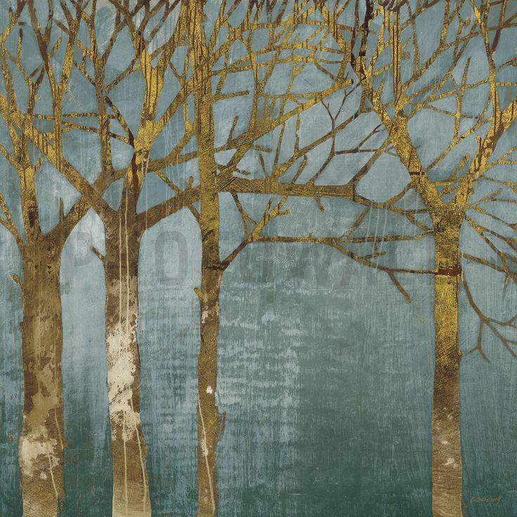 Golden Day Turquoise - Tapetit / tapetti - Photowall
