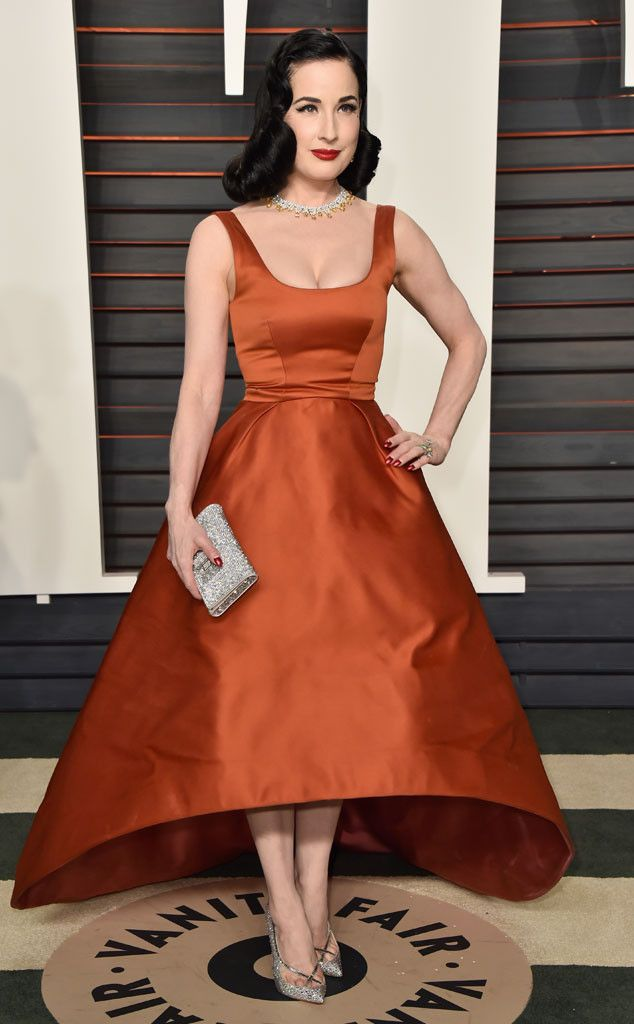 Dita Von Teese from Vanity Fair Oscars Party 2016: What the Stars Wore   E! Online