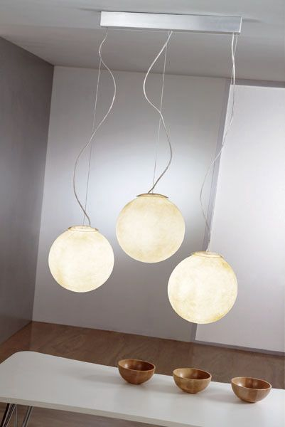 Pendant Lamp That Looks Like Real Moon | Shelterness