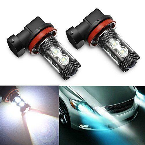 Perfect AMBOTHER pcs Phare Antibrouillard H Kit Ampoule LED V hicule Lampe Lumi re Auto K X non Blanc V