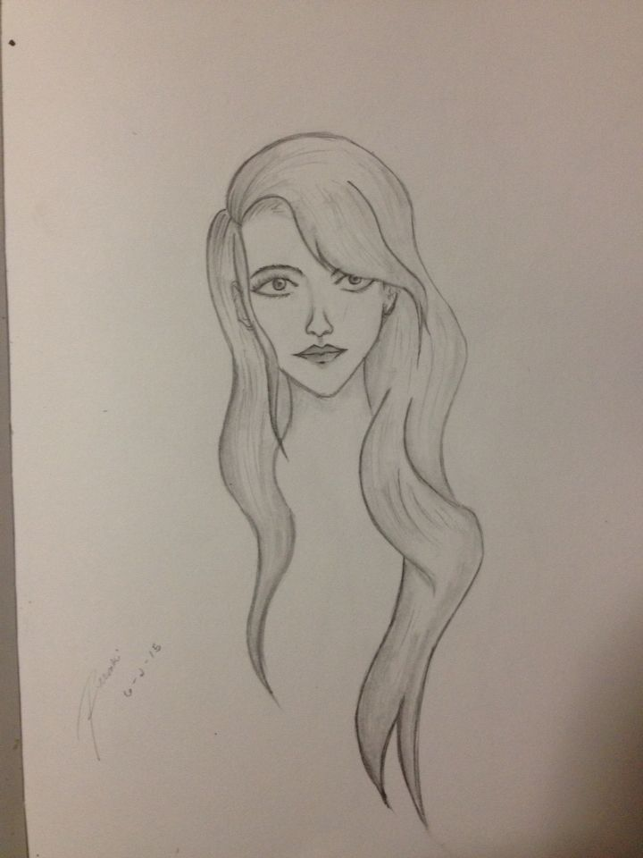 First try drawing a girl
