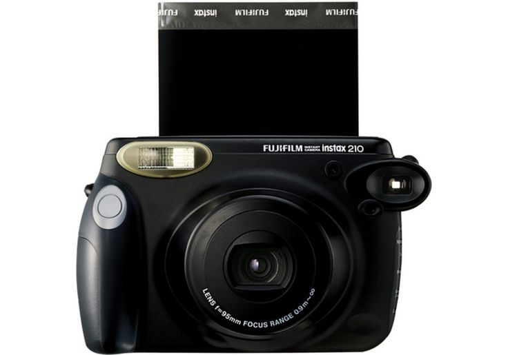 INSTAX 210 Camera - With its rounded shape, easy-to-hold side grip, and fingertip controllable composite control panel, the instax 210 offers vivid, high-quality prints almost instantly.