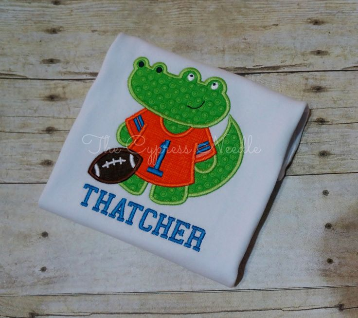 Personalized Football Tailgate First Birthday Shirt with Mascot Florida Gators by TheCypressNeedle on Etsy