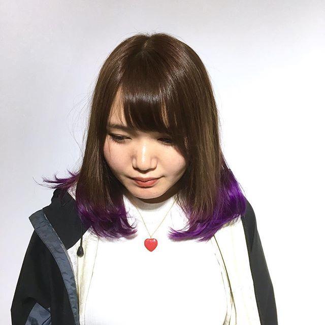 WEBSTA @ yuku0504 - 裾カラーで紫をon!!周りと差をつけたいときに是非!!#hair#haircolor#japanese#violet#violetash#purple#purpleash#ヘアカラー#アッシュ#ピンク#ピンクアッシュ#バイオレット#パープル#バイオレットアッシュ#throw#throwカラー#ombre #sombre#グラデーションカラー #裾カラー#派手髪#manicpanic#マニパニ#portraits #お洒落さんと繋がりたい #美容師と繋がりたい#気になったらフォローお願いします #気になったらフォロー返します#侑玖担当style