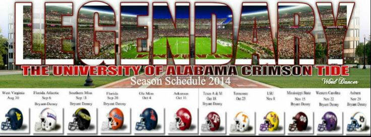 Crimson Tide Schedule 2014