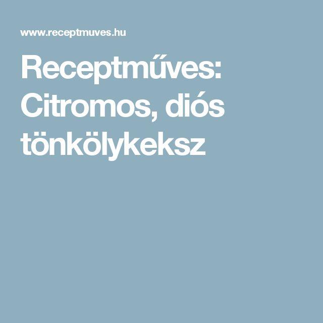 Receptműves: Citromos, diós tönkölykeksz