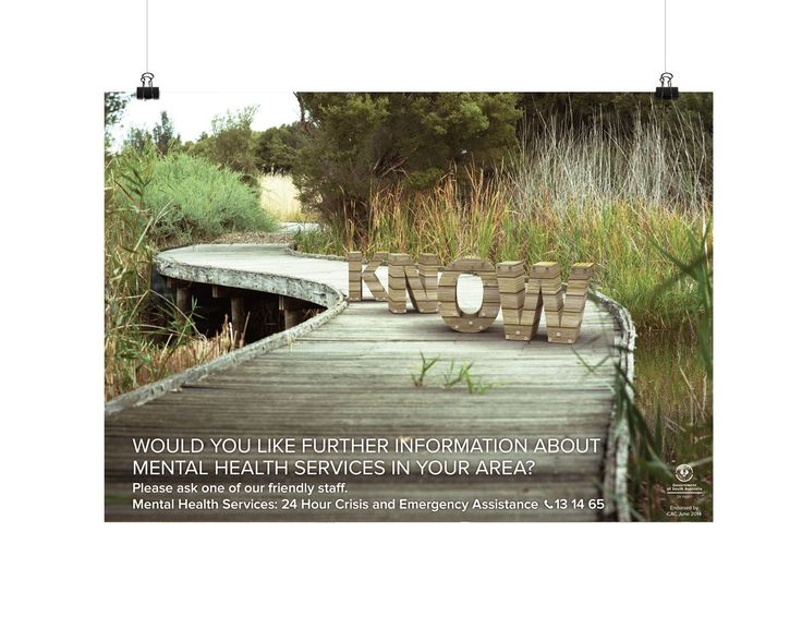 Northern Mental Health Campaign, poster design, print - Drawcard