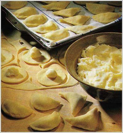 Perogies dough with milk, sour cream