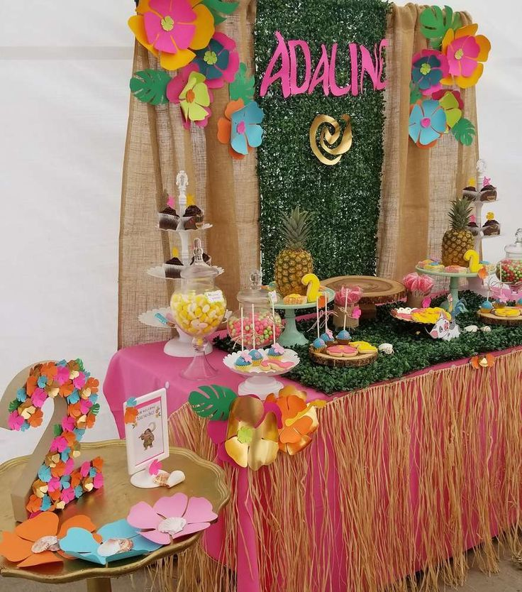 Adalines Moana 2nd Birthday Party