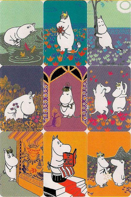 Moomin sticker sheet