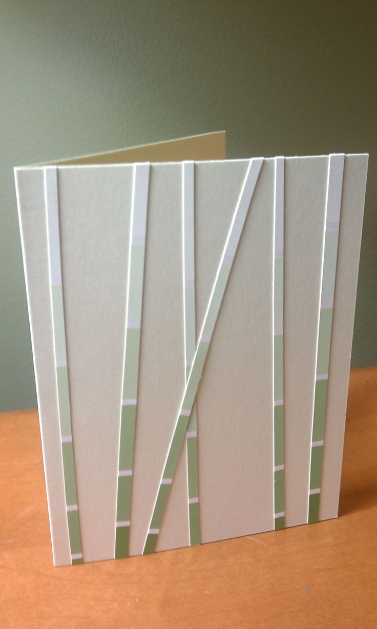 Card I made with paint chips. Not my original idea but really cool huh?