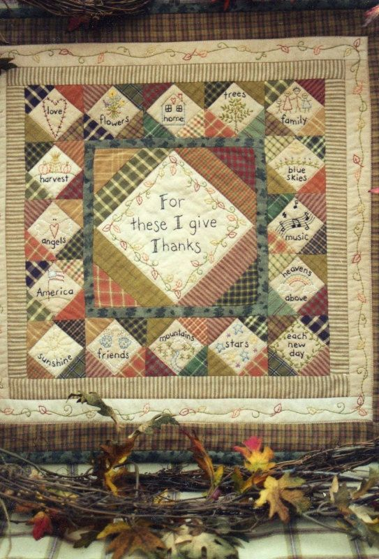 Thanksgiving Wall Quilt from Bareroots by ISewCheap on Etsy