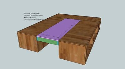 DIY Queen Sized Storage Bed frame. Wonder if this could be made into a king size.