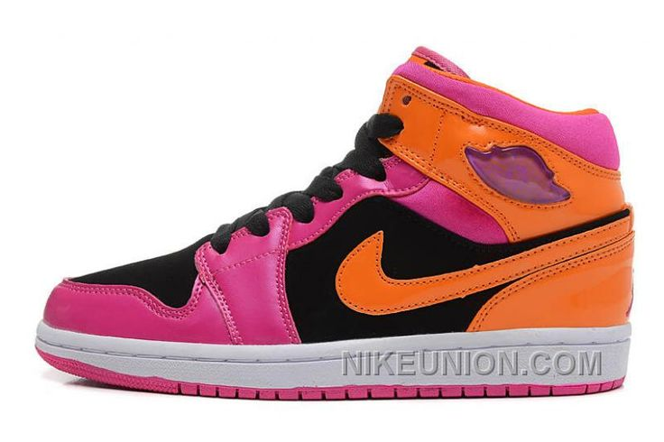 http://www.nikeunion.com/official-air-jordan-1-mid-black-orange-pink-new-style.html OFFICIAL AIR JORDAN 1 MID BLACK ORANGE PINK NEW STYLE Only $70.20 , Free Shipping!