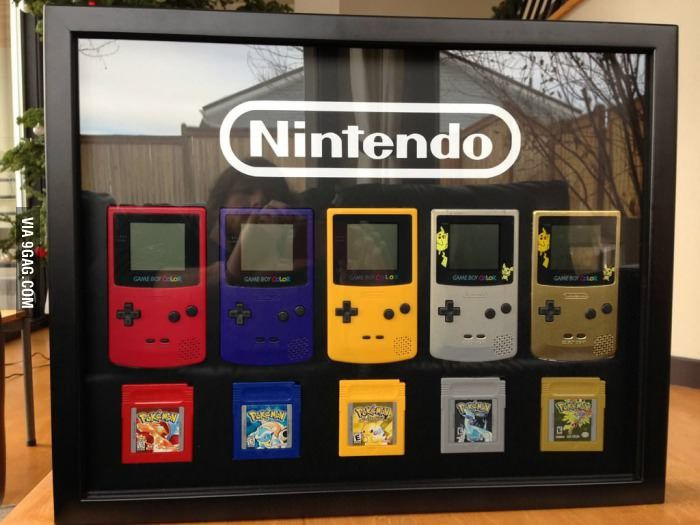 Gameboy/Pokemon display for girlfriend's Christmas gift